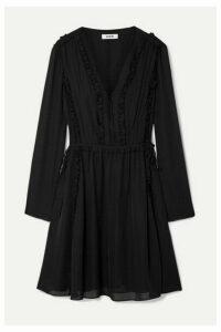 Jason Wu - Ruffled Silk-georgette Mini Dress - Black