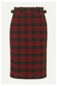 REDValentino - Buckled Checked Tweed Skirt - IT40