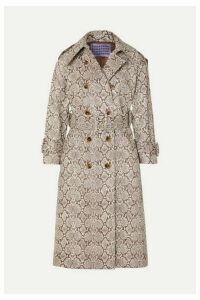 ALEXACHUNG - Snake-effect Faux Leather Trench Coat - Snake print