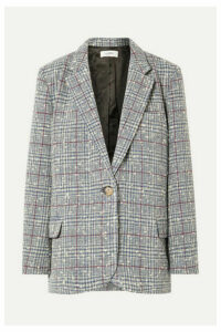 Isabel Marant Étoile - Kice Checked Wool-blend Bouclé Blazer - Light blue