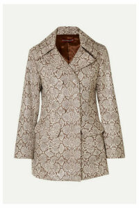ALEXACHUNG - Snake-effect Faux Leather Jacket - Snake print