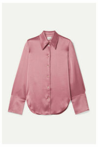 Nanushka - Madine Satin Shirt - Antique rose