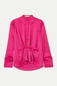 palmer//harding - Rise Satin Shirt - Pink