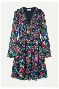 Jason Wu - Ruffle-trimmed Floral-print Devoré-organza Mini Dress - Purple