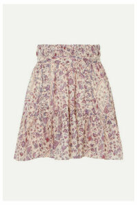Isabel Marant Étoile - Laraya Pleated Printed Cotton Skirt - Lilac