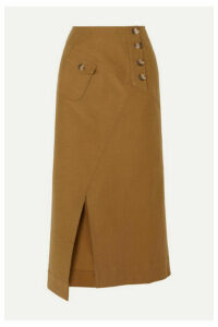 REJINA PYO - Astrid Cotton-blend Twill Midi Skirt - Camel