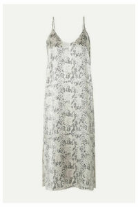 ATM Anthony Thomas Melillo - Snake-print Silk-satin Midi Dress - Snake print