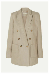 MICHAEL Michael Kors - Double-breasted Linen Blazer - Neutral