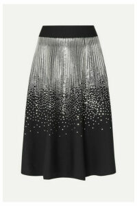 Givenchy - Sequin-embellished Stretch Wool-blend Midi Skirt - Black