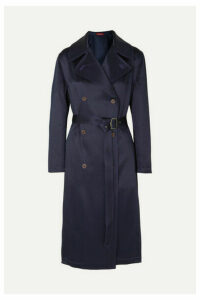 Sies Marjan - Sigourney Double-breasted Satin-twill Trench Coat - Navy