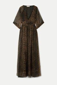 Eywasouls Malibu - Liliane Leopard-print Chiffon Maxi Dress - Leopard print