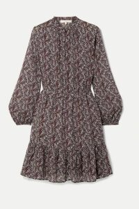 Vanessa Bruno - Manuela Printed Gauze Mini Dress - Purple