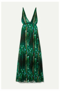 Eywasouls Malibu - Harriet Printed Chiffon Maxi Dress - Green