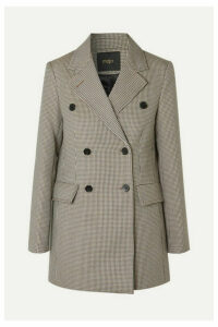 Maje - Goldi Double-breasted Houndstooth Tweed Blazer - Brown