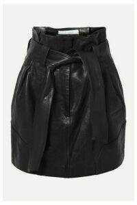 IRO - Bolsy Belted Leather Mini Skirt - Black