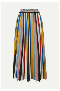 Missoni - Pleated Striped Metallic Knitted Midi Skirt - Black