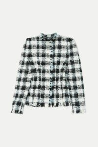 Alexander McQueen - Checked Bouclé-tweed Blazer - Blue