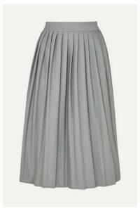 Georgia Alice - Bobby Pleated Woven Midi Skirt - Gray