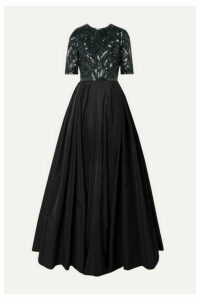 Naeem Khan - Embellished Silk-tulle And Taffeta Gown - Black