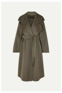 Akris - Tasha Belted Cashmere Coat - Gray