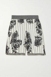 Fendi - Belted Jacquard And Leather-trimmed Gabardine Trench Coat - Black