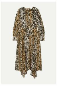 RIXO - Elsa Leopard-print Crepe De Chine Midi Dress - Leopard print