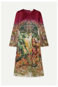 Etro - Printed Crepe De Chine Midi Dress - Beige