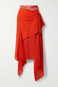 Rhode - Ella Pleated Floral-print Cotton-poplin Mini Dress - Blue