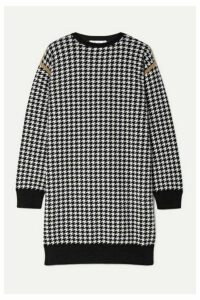 Max Mara - Canale Houndstooth Wool And Cashmere-blend Mini Dress - Black