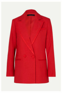 Rachel Zoe - Giorgia Double-breasted Canvas Blazer - Red
