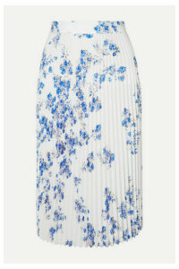 Vetements - Floral-print Plissé-crepe Midi Skirt - White