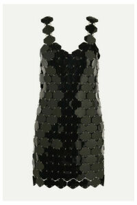 Paco Rabanne - Embellished Metallic Mini Dress - Black