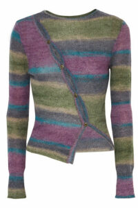 Jacquemus - Button-detailed Striped Knitted Sweater - Purple