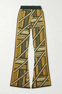 House of Holland - Asymmetric Hammered-satin Skirt - Orange