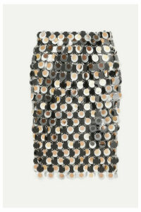 Paco Rabanne - Paillette-embellished Chainmail Skirt - Silver
