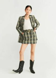Plaid miniskirt