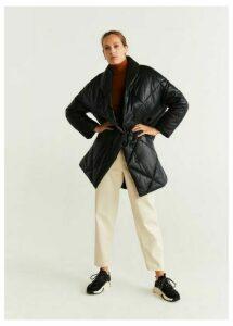 Leather padded coat