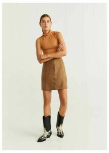 Buttoned miniskirt