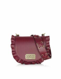 RED Valentino Designer Handbags, Rock Ruffles Rounded Shoulder Bag