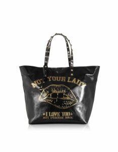 RED Valentino Designer Handbags, Not Your Lady Black Tote Bag