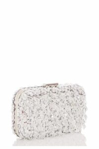 Quiz Silver Jewel Tassel Box Bag