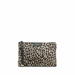 Leopard Clutch Medium Zip-Top Clutch