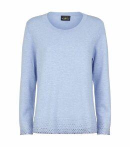 Swarovski Embellished Trim Sweater