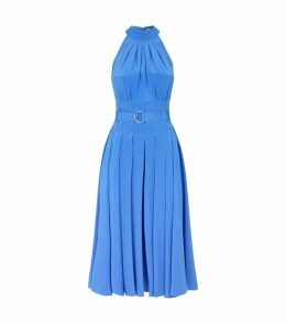 Silk Crepe de Chine Nicola Midi Dress