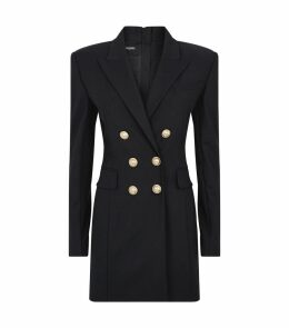 Embossed Button Jacket Dress