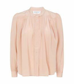 Pleated Silk Shirt