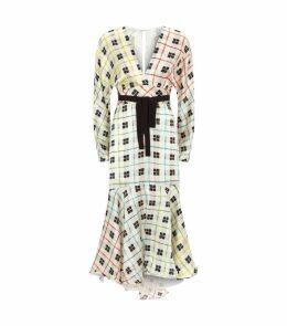 Silk Check Dress