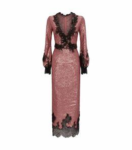 Sequinned Midi Dress