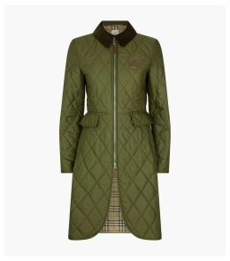 Long TB Monogram Quilted Riding Coat