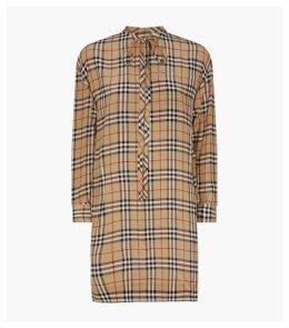 Vintage Check Silk Dress